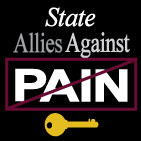 State Allies Against Pain FB profile image black